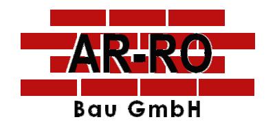 Bauunternehmen Logo AR-RO Bau