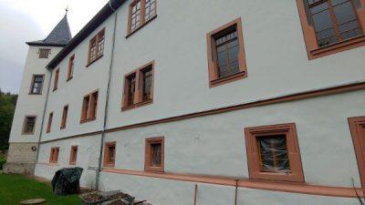 Fassade Historisches Schloß Nähe Neustadt Orla