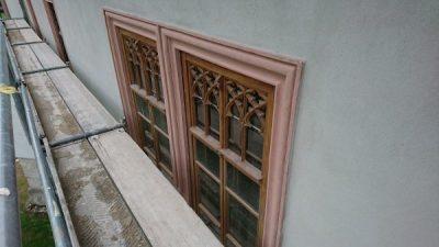 Historische stuckverzierte Fenster