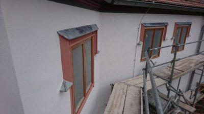 Fertigstellung der Faschen der historischen Fenster