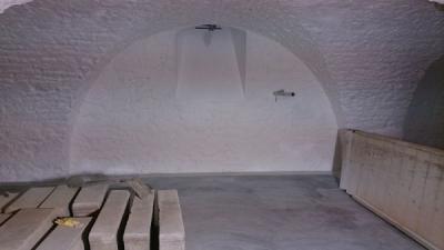Restaurierung Gruft, Kalkputz