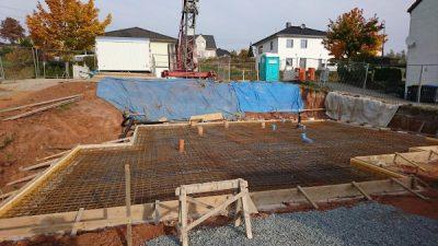 erster Baufortschritt Bodenplatte