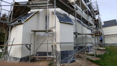 Sanierungsarbeiten- Kirche- Dobia
