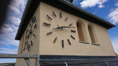 Sanierung Kirchturm-Uhr